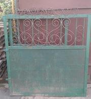Ворота и калитка металлические,  бу.